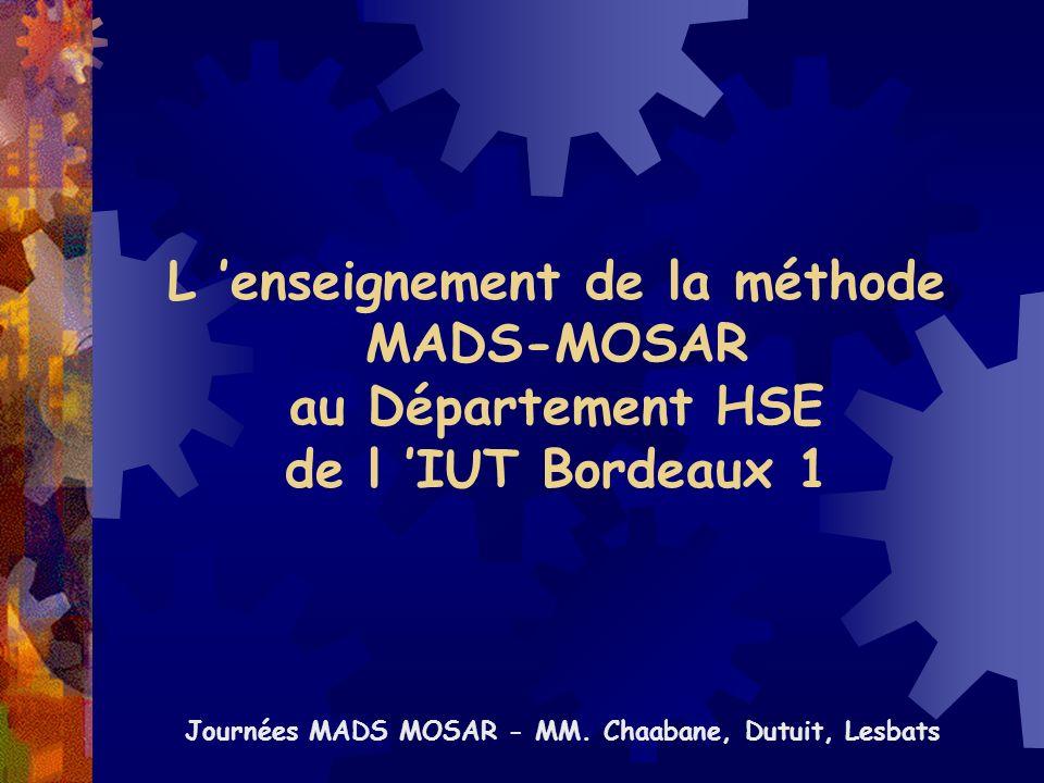 Journées MADS MOSAR - MM. Chaabane, Dutuit, Lesbats