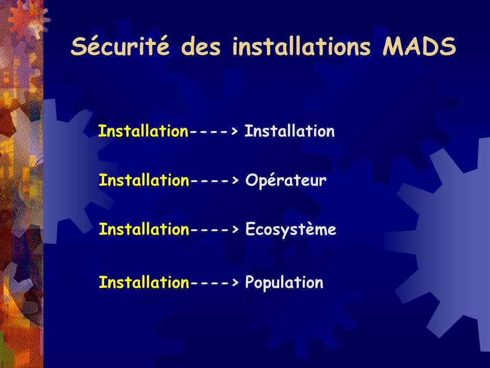 Sécurité des installations MADS