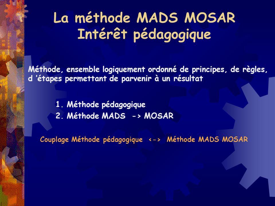 La méthode MADS MOSAR Intérêt pédagogique