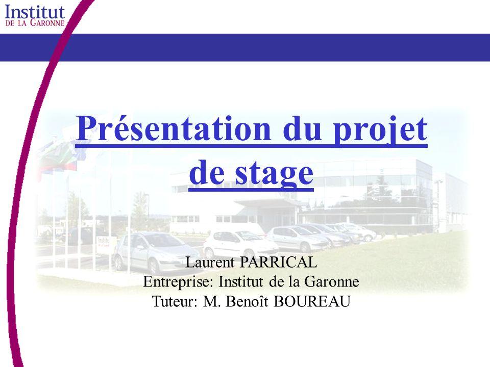 Présentation du projet de stage