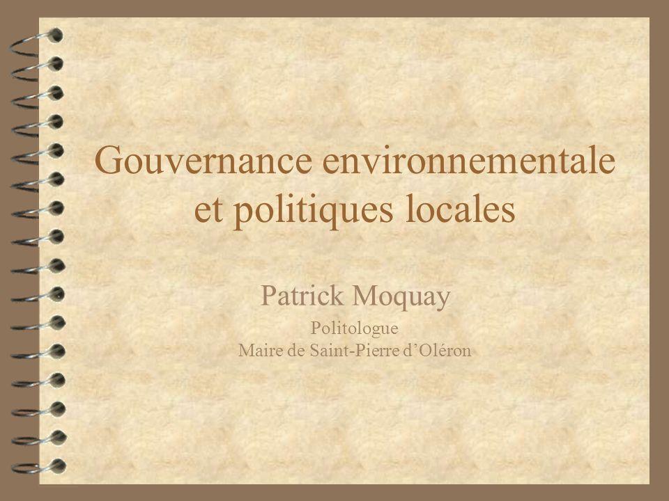 Gouvernance environnementale et politiques locales