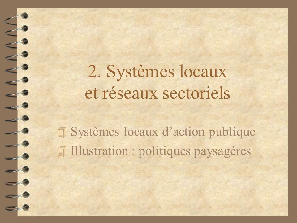 2. Systèmes locaux et réseaux sectoriels