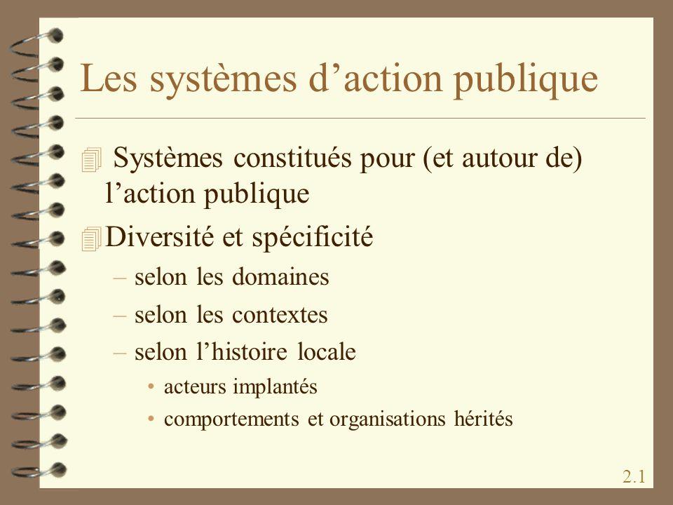 Les systèmes d'action publique