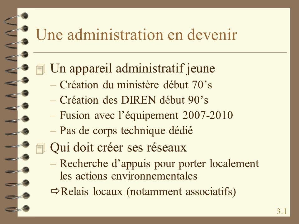Une administration en devenir