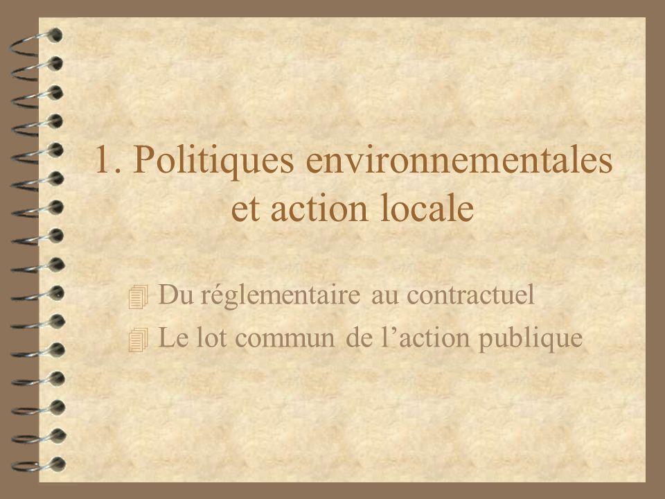 1. Politiques environnementales et action locale
