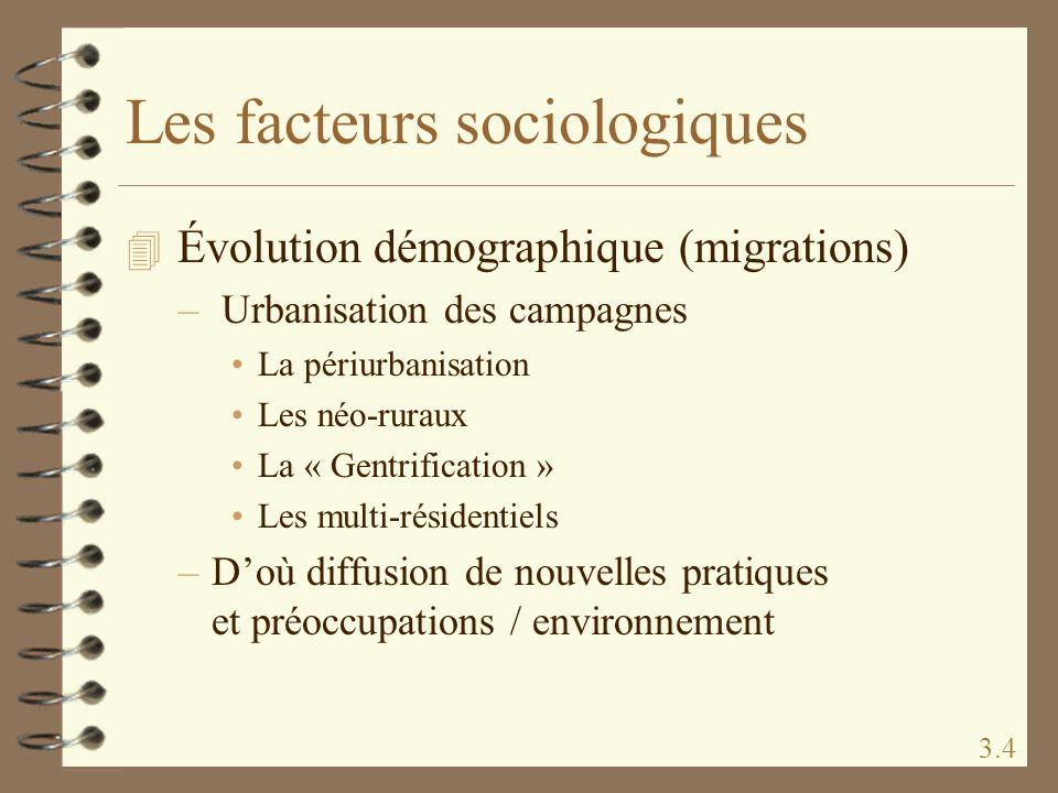 Les facteurs sociologiques