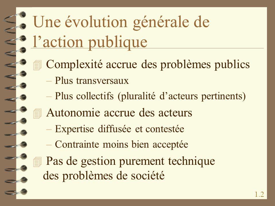 Une évolution générale de l'action publique