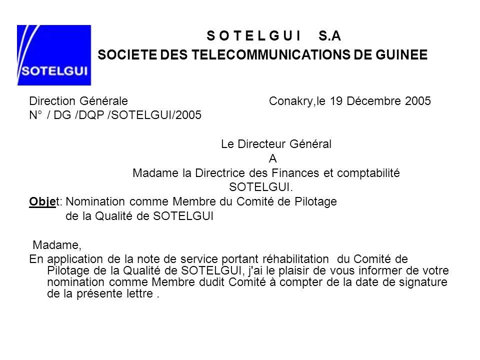 SOCIETE DES TELECOMMUNICATIONS DE GUINEE