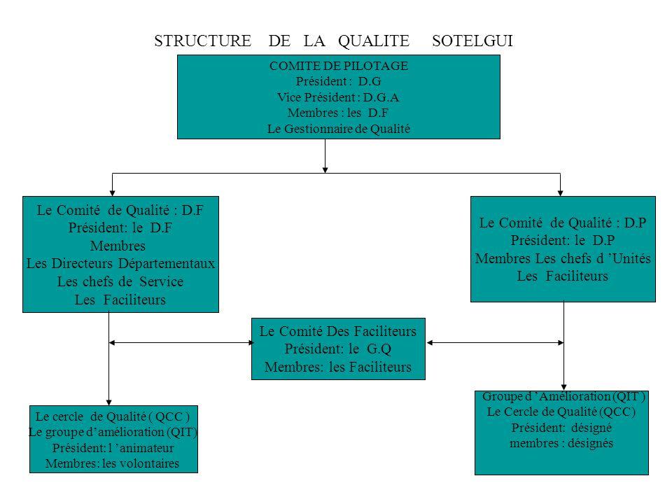 STRUCTURE DE LA QUALITE SOTELGUI