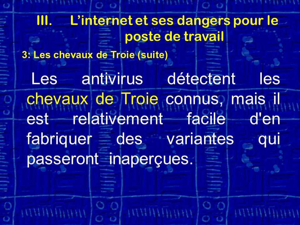 L'internet et ses dangers pour le poste de travail