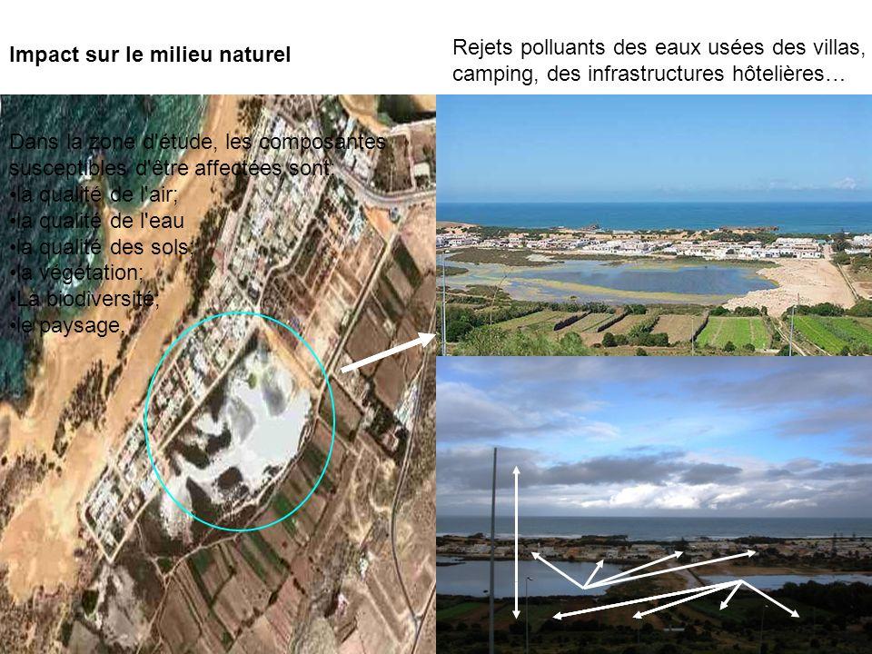 Rejets polluants des eaux usées des villas, camping, des infrastructures hôtelières…