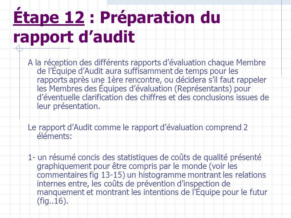 Étape 12 : Préparation du rapport d'audit