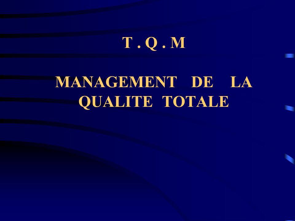 T . Q . M MANAGEMENT DE LA QUALITE TOTALE