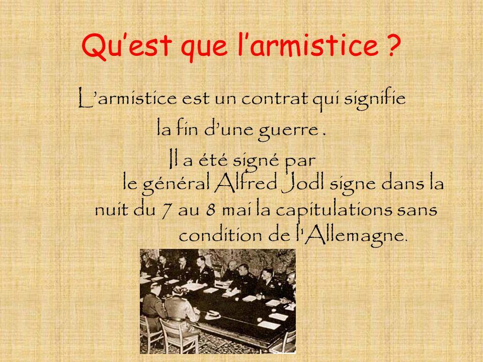 Qu'est que l'armistice