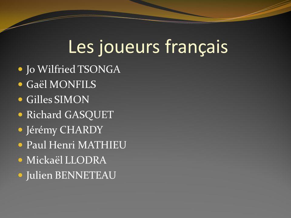 Les joueurs français Jo Wilfried TSONGA Gaël MONFILS Gilles SIMON