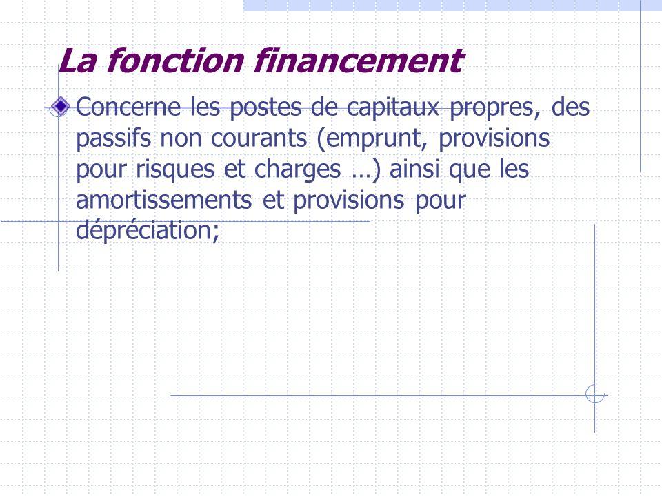 La fonction financement