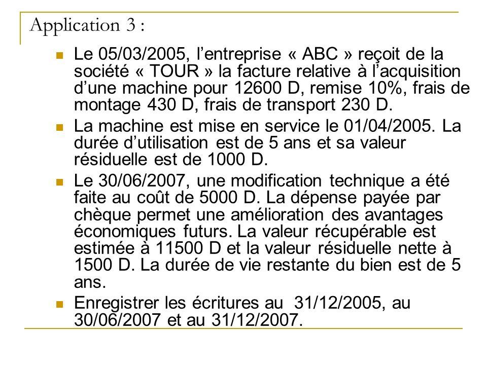 Application 3 :