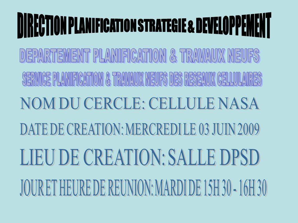 DEPARTEMENT PLANIFICATION & TRAVAUX NEUFS