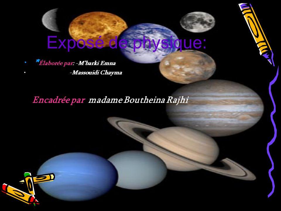 Exposé de physique: *Élaborée par: -M'barki Emna -Massouidi Chayma
