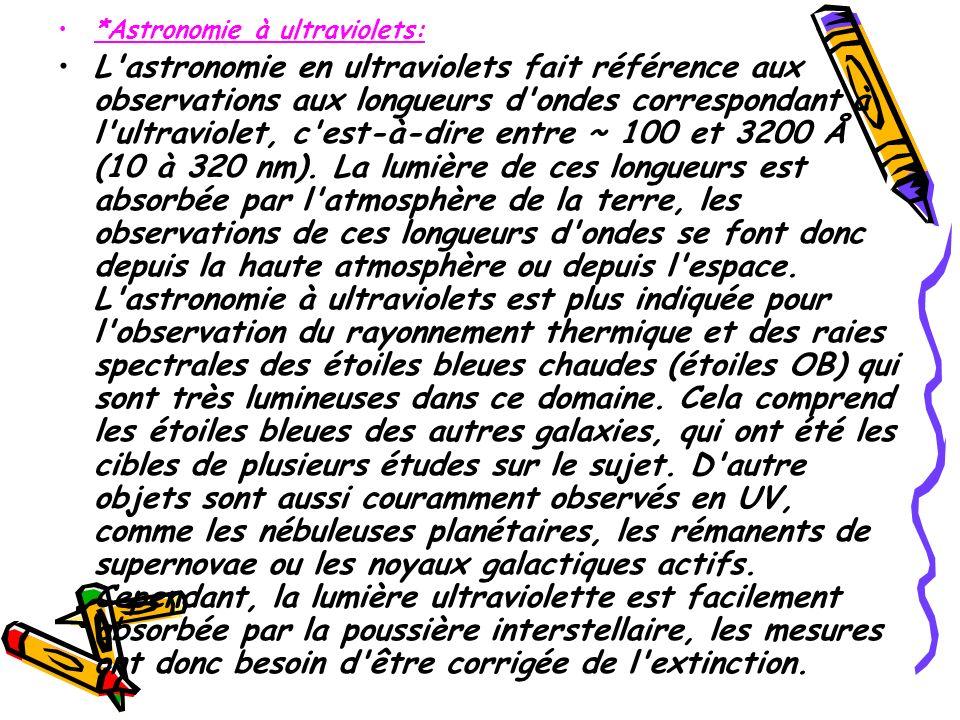 *Astronomie à ultraviolets: