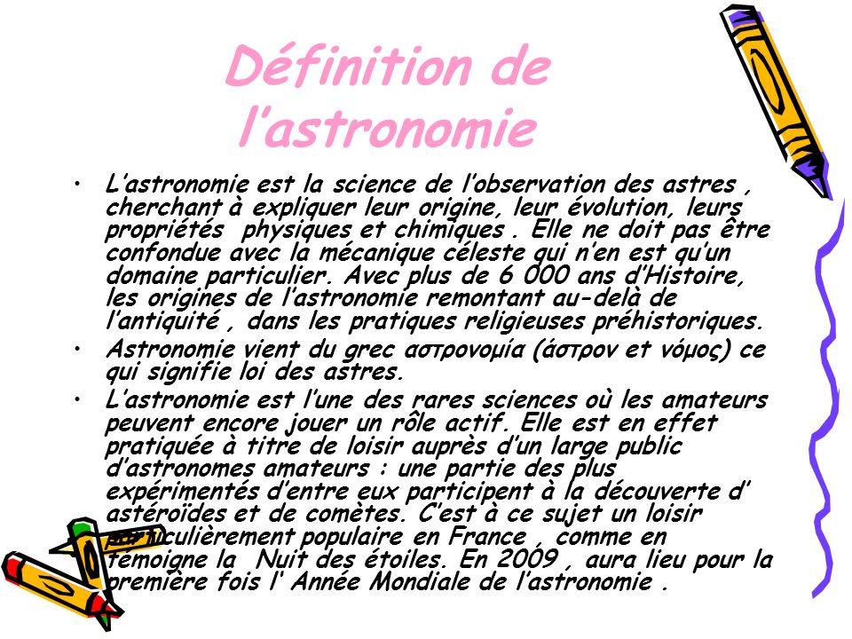 Définition de l'astronomie