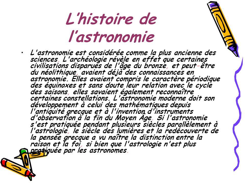 L'histoire de l'astronomie