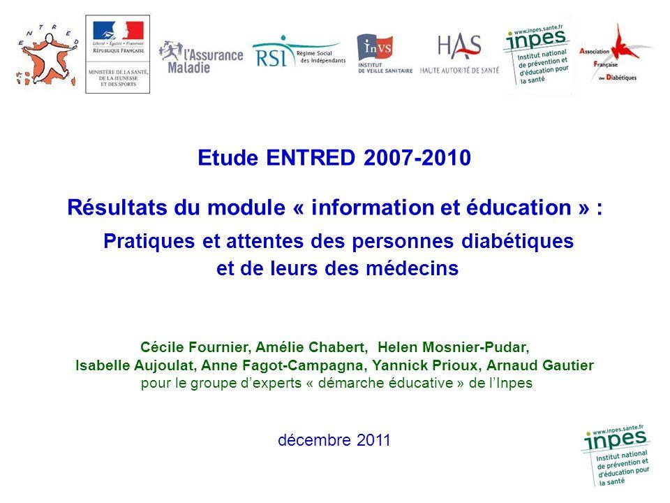 Résultats du module « information et éducation » :