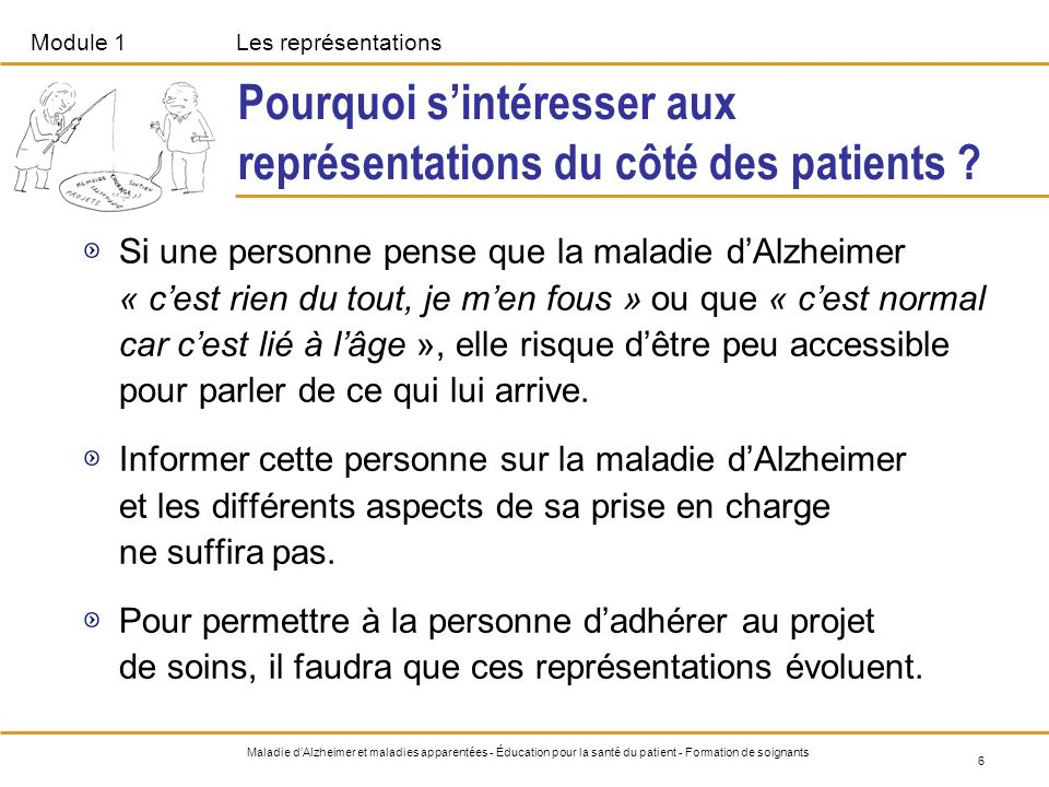 Pourquoi s'intéresser aux représentations du côté des patients