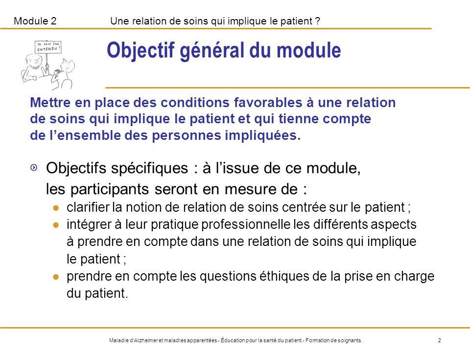 Objectif général du module