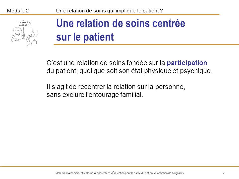 Une relation de soins centrée sur le patient