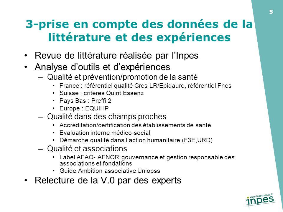 3-prise en compte des données de la littérature et des expériences