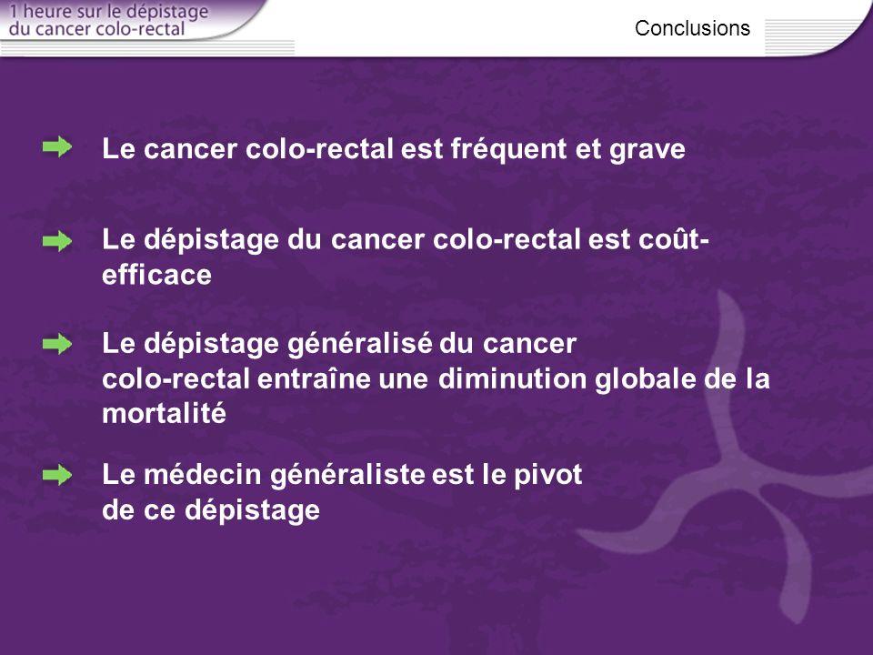 Le cancer colo-rectal est fréquent et grave