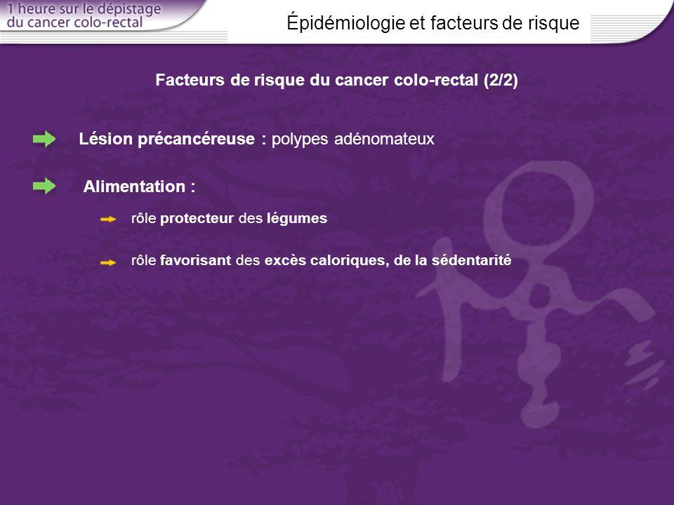 Facteurs de risque du cancer colo-rectal (2/2)