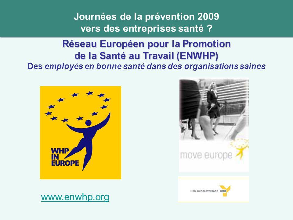 Journées de la prévention 2009 vers des entreprises santé