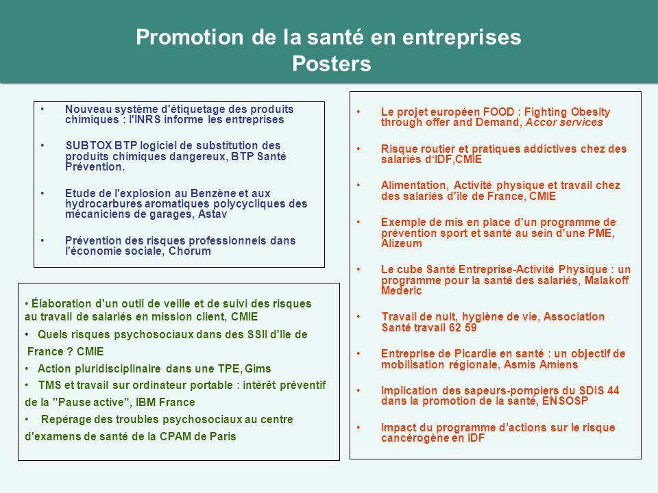 Promotion de la santé en entreprises Posters