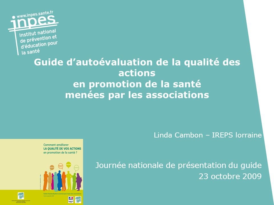 Guide d'autoévaluation de la qualité des actions en promotion de la santé menées par les associations