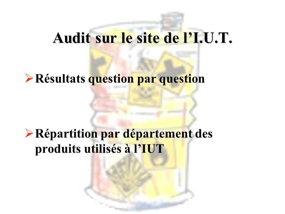 Audit sur le site de l'I.U.T.