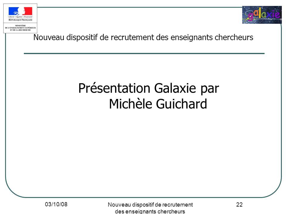 Présentation Galaxie par Michèle Guichard