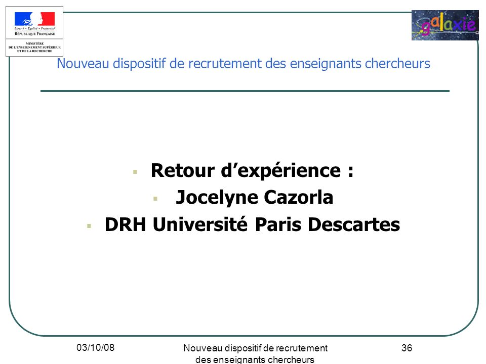 DRH Université Paris Descartes