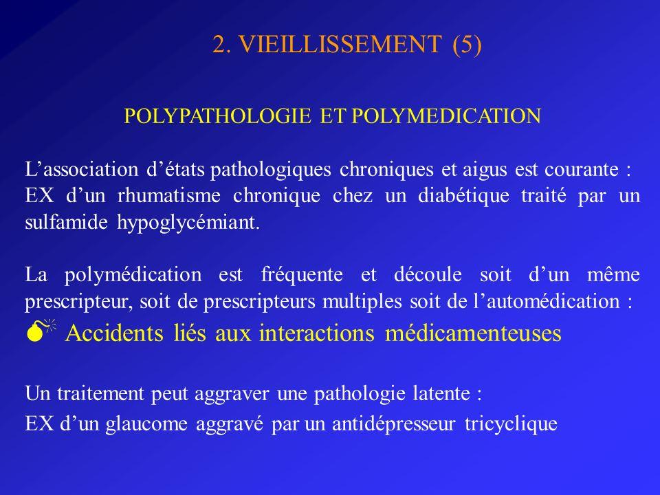 POLYPATHOLOGIE ET POLYMEDICATION