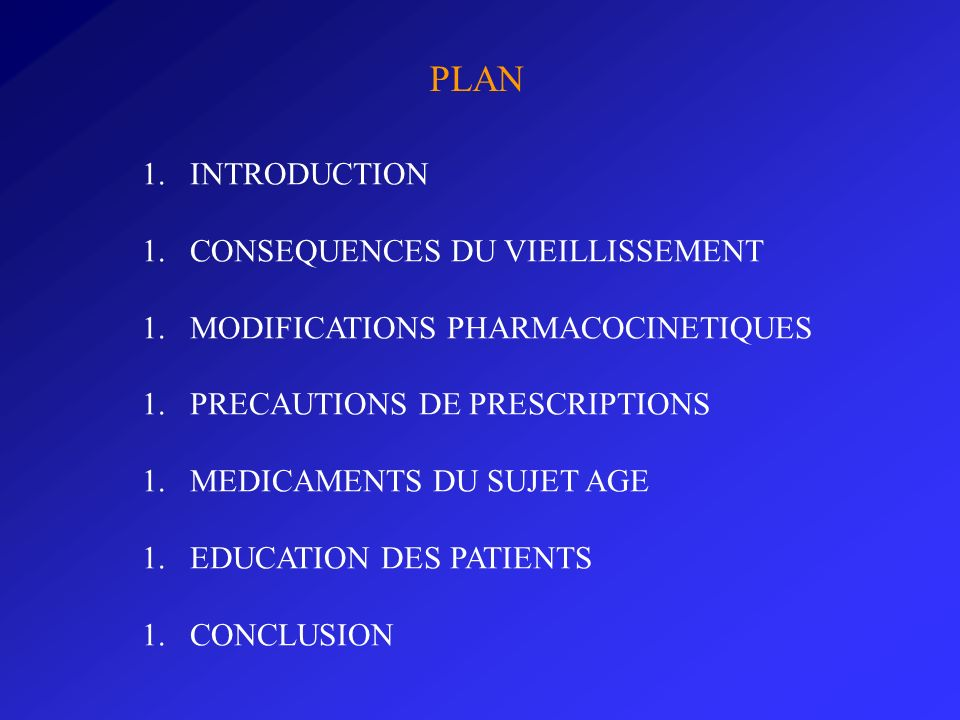 PLAN INTRODUCTION CONSEQUENCES DU VIEILLISSEMENT