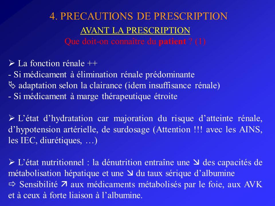 Que doit-on connaître du patient (1)