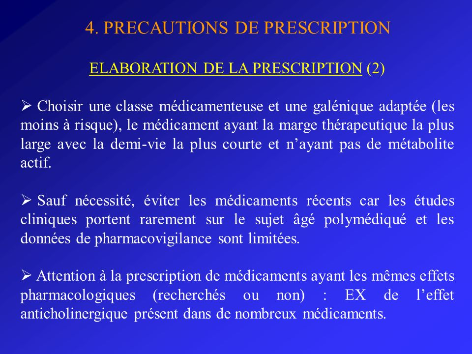 ELABORATION DE LA PRESCRIPTION (2)