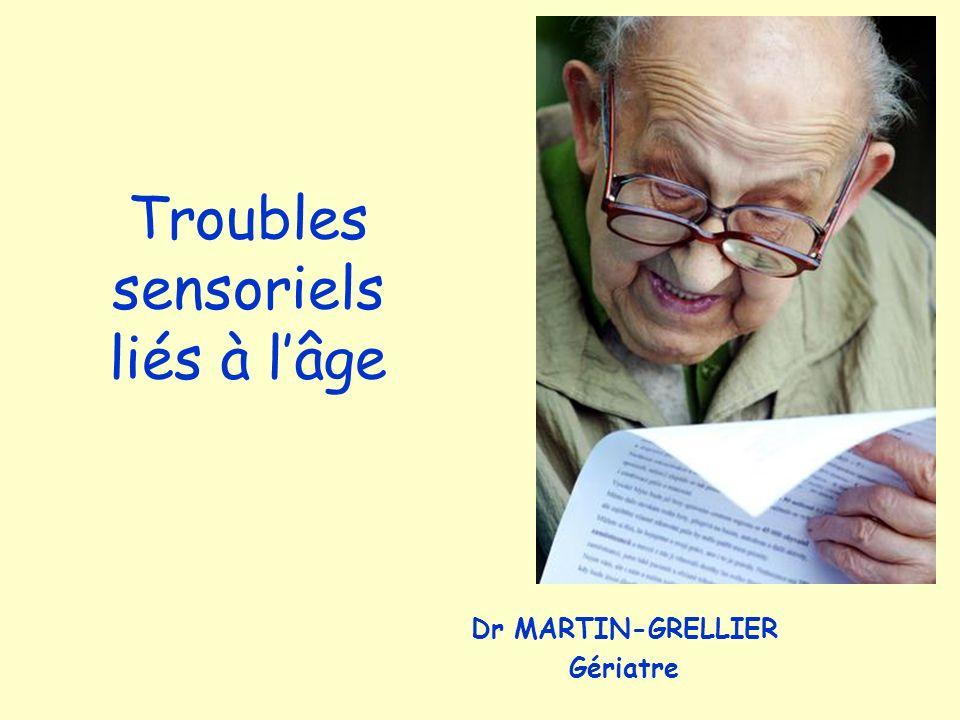 Troubles sensoriels liés à l'âge