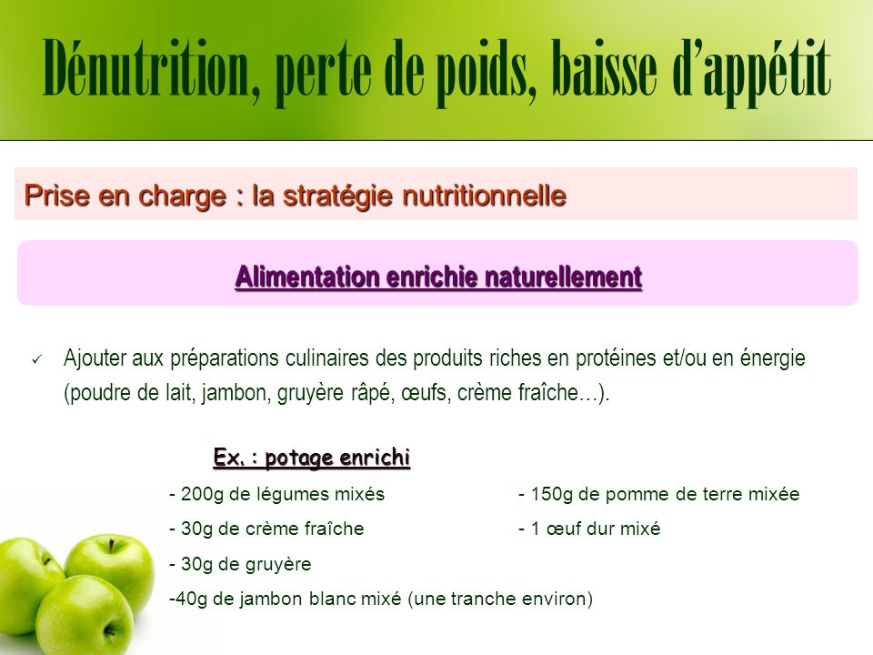 Alimentation enrichie naturellement