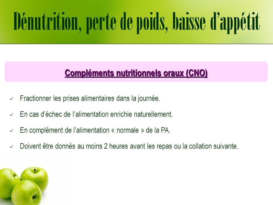 Compléments nutritionnels oraux (CNO)