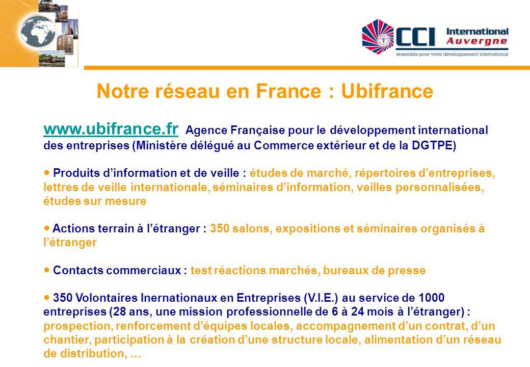 Notre réseau en France : Ubifrance