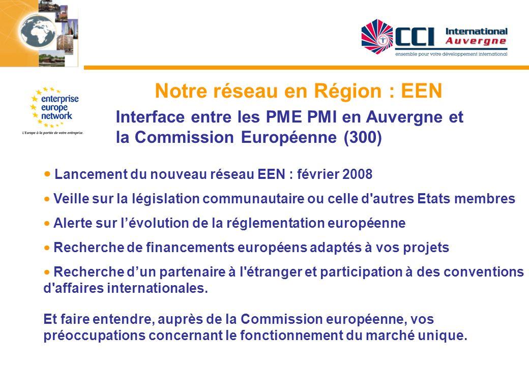 Notre réseau en Région : EEN