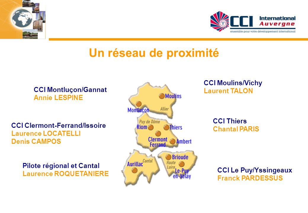 Un réseau de proximité CCI Moulins/Vichy Laurent TALON