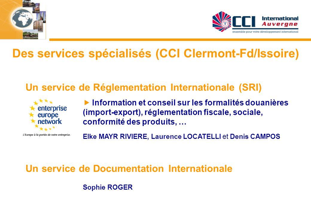 Des services spécialisés (CCI Clermont-Fd/Issoire)